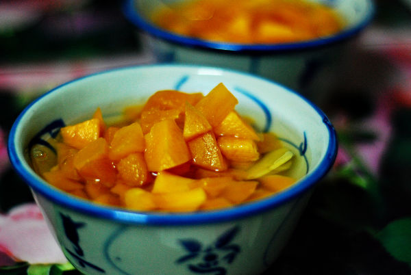 Sweet Potato in Ginger Syrup
