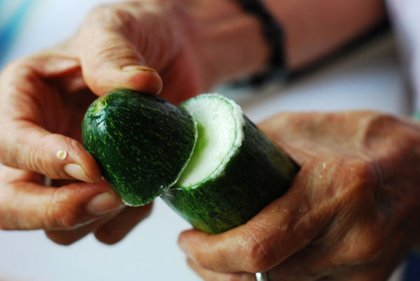 Rub Cucumber Against The Surface Of Each Other To Minimize Bitterness