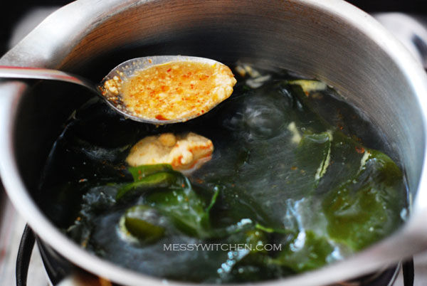 Add Fermented Chili Bean Curd & Sauce To Broth