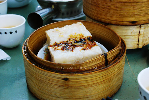 Steamed Radish Cake @ Lin Heung Tea House, Central, Hong Kong