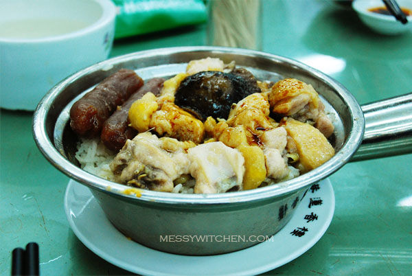 Steamed Rice with Chicken, Waxed Sausage & Mushroom @ Lin Heung Tea House, Central, Hong Kong