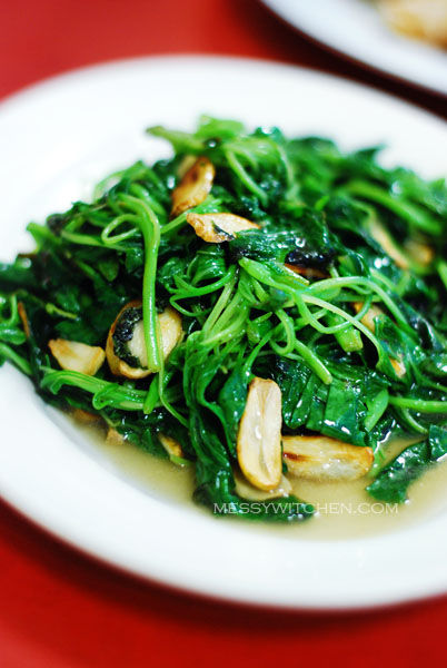 Stir Fried Spinach with Garlic @ Soon Kee Seafood Restaurant