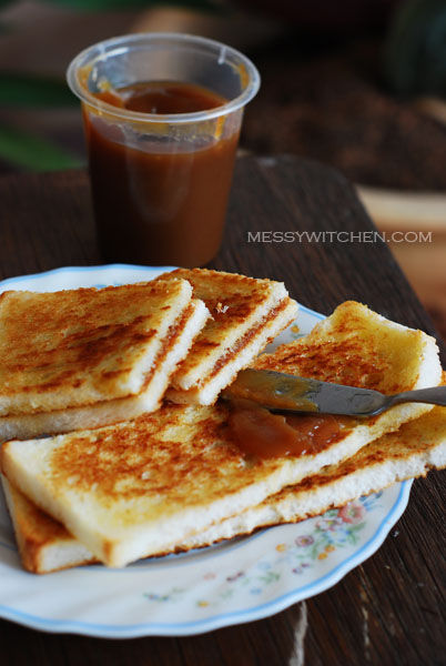 Toasted Hailam Bread With Kaya
