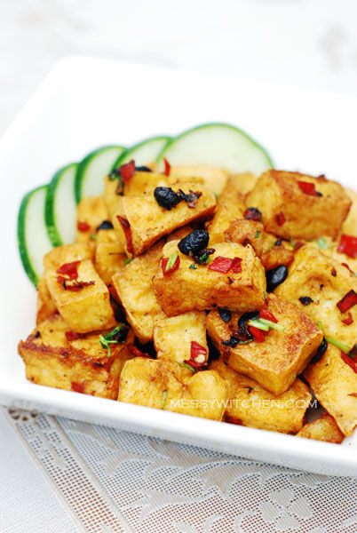 Fried Crispy Bean Curd Cubes With Fermented Black Beans