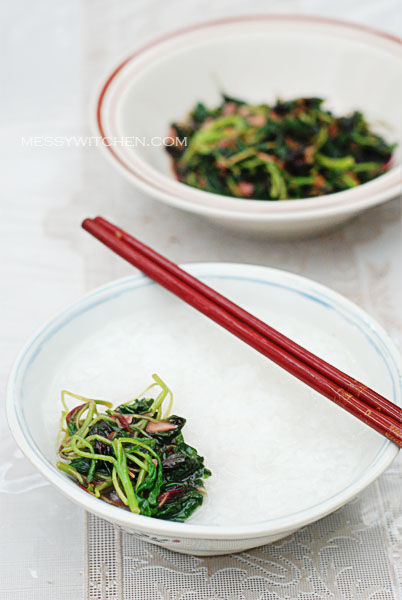 Stir-Fry Red Spinach