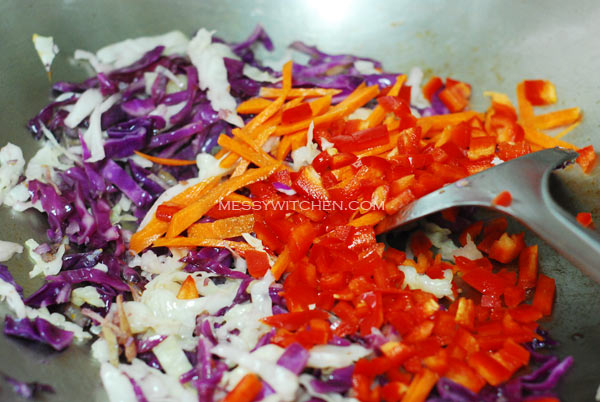 Add Cabbage, Capsicum, Carrot