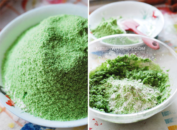 Green Pea Ingredients+Mixing