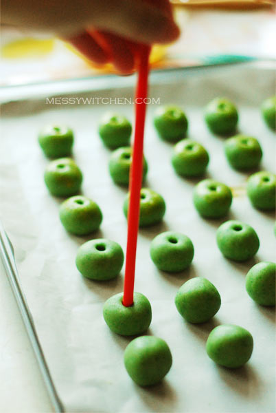 Unbaked Green Pea Cookies
