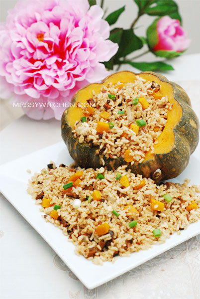 Brown Rice With Pumpkin & Mushroom