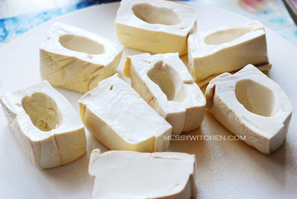 Make Cavity In Halfed Tofu