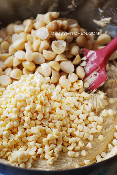 Add White Chocolate Chips & Macadamia Nuts