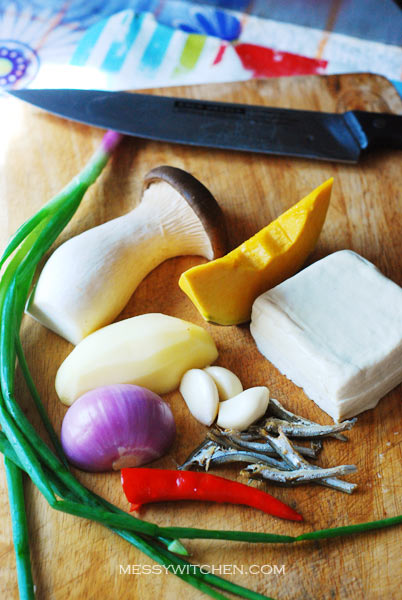 Ingredients For Doenjang Jjigae