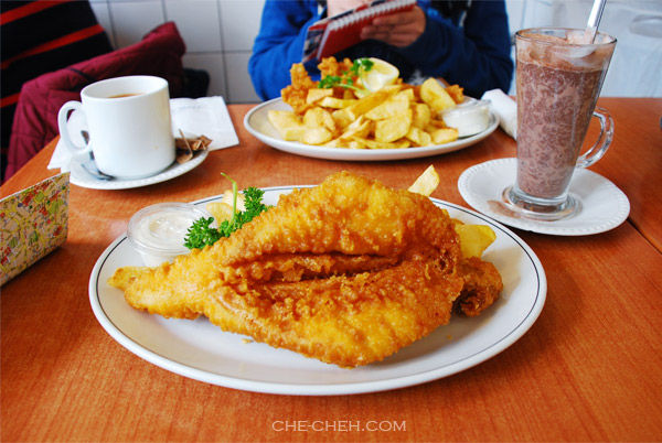 Cod & Plaice With Chips @ The Rock & Sole Plaice, London