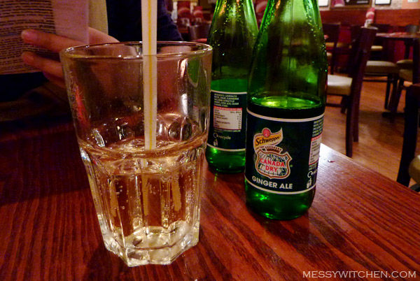 Ginger Ale @ Garfunkel's Restaurant, Oxford Street, London