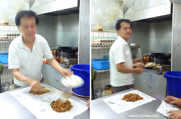 Uncle of Melawis Char Kuey Teow, Klang