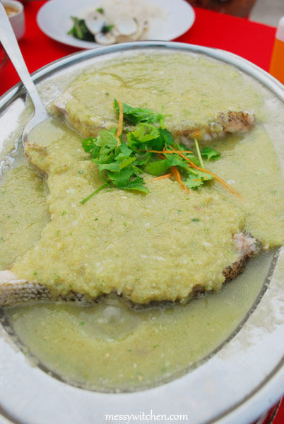 Steamed Grouper With Minced Ginger @ Asam Batu Laut Restaurant
