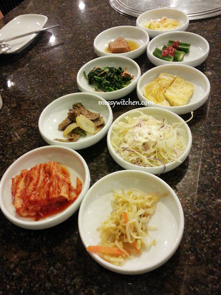 Banchan @ Todam Korean BBQ Restaurant