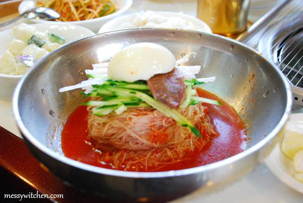 Bibim Naengmyeon - Korean Spicy Cold Noodles @ Tam Gung Charcoal Ribs Restaurant, Jeju-do, South Korea