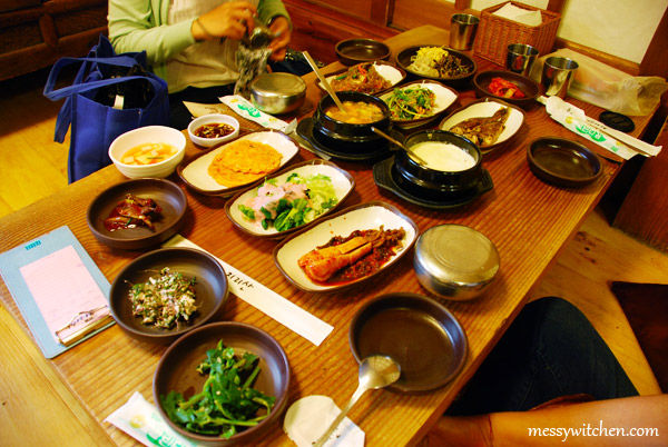 Jirisan Nogodan Course Set @ Jirisan Restaurant, Insadong, Seoul, South Korea