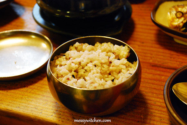 Rice @ Jirisan Restaurant, Insadong, Seoul, South Korea