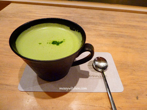 Green Tea Latte At O'Sulloc Tea House @ Insadong, Seoul, South Korea