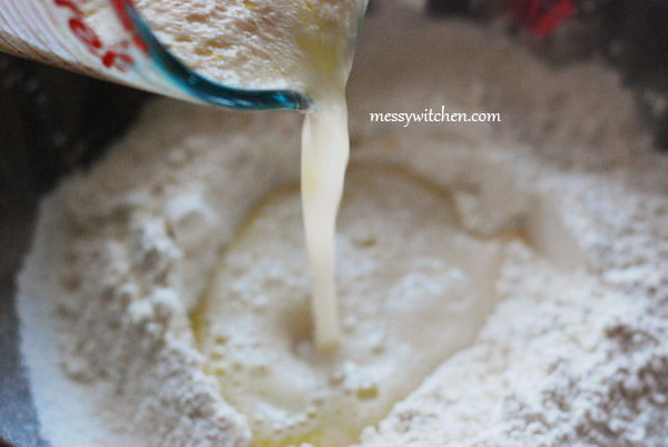 Pour Into The Flour Well