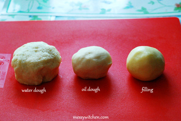 Water Dough, Oil Dough, Filling