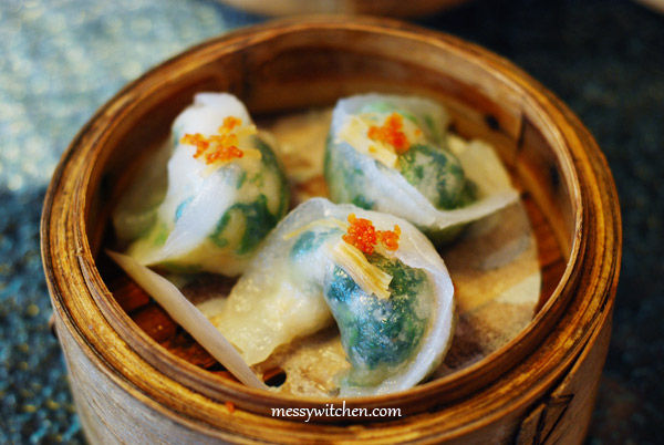 Dried Scallop Dumpling with Spinach @ The Han Room, The Gardens, KL