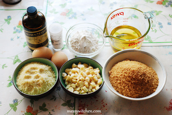 Ingredients For Gluten & Dairy Free Macadamia Brownies