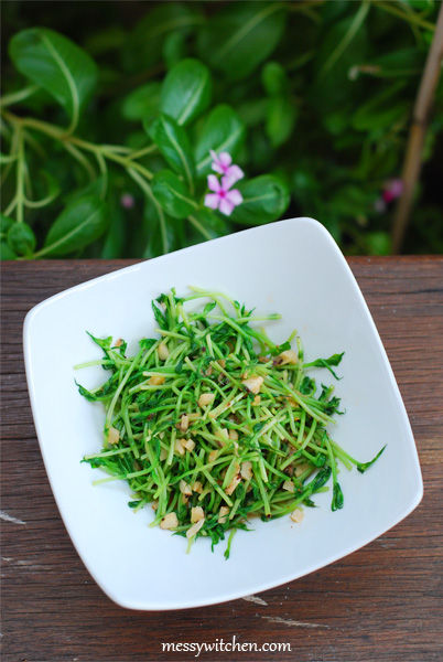 Stir Fried Pea Sprouts With Cincalok