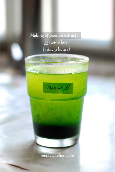 Half-Done Pandan Extract Made From 10 Pieces Matured Pandan Leaves