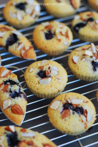 Brown Butter Blueberry Financiers