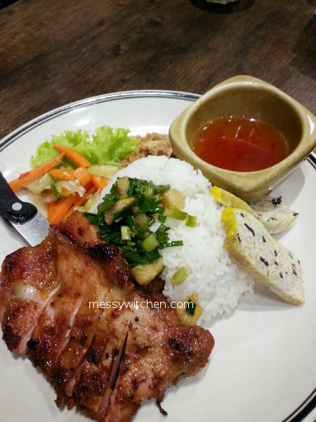 Marinated Lemongrass Chicken Chop Rice @ Pho Vietz