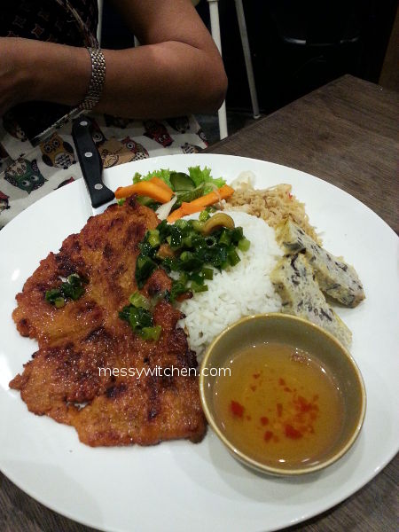 Marinated Lemongrass Pork Chop Rice @ Pho Vietz