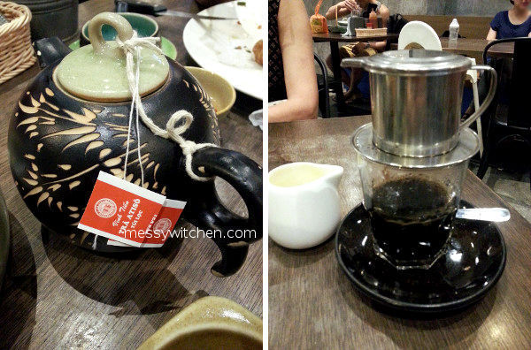 Vietnamese Atiso Tea & Vietnamese Coffee With Milk @ Pho Vietz