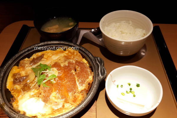 Mixed Fried Foods Topped With Egg Teishoku @ Yayoiken やよい軒, Tokyo