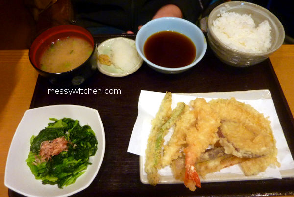 Prawn & Vegetable Tempura Set Meal @ Tempura Tendon Tenya, Tokyo