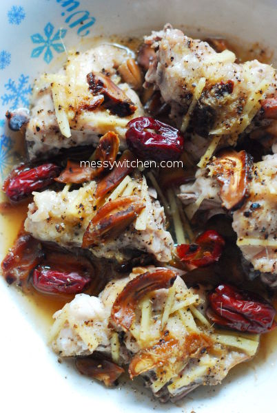 Easy One Plate Steamed Wine Chicken
