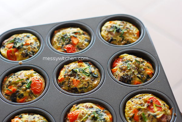 Vegetables Buckwheat Quinoa Egg Muffins