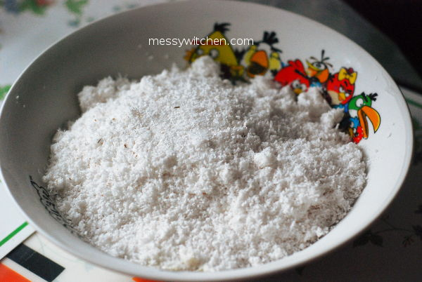 Frozen Leftover Grated Coconut