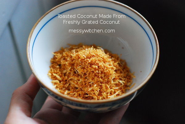 Toasted Coconut Made From Fresh Grated Coconut