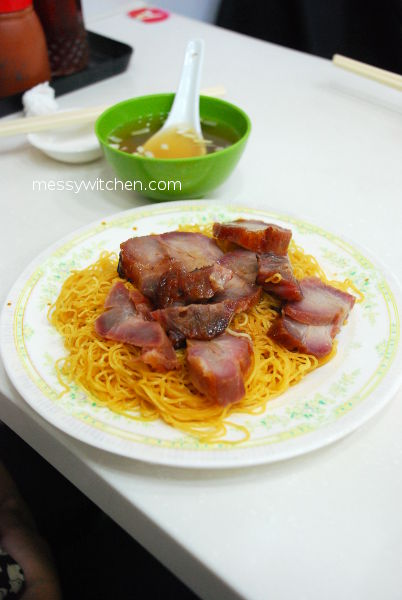 Dry Noodles With Roast Pork @ Mak Man Kee Noodle Shop, Hong Kong