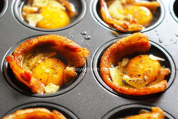 Cheddar Bacon Egg Muffins Ready To Bake