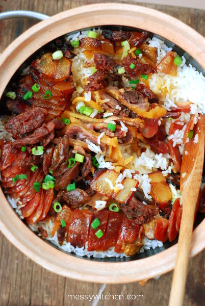 Lap Mei Fan 臘味飯 Chinese Preserved (Waxed) Meat Claypot Rice