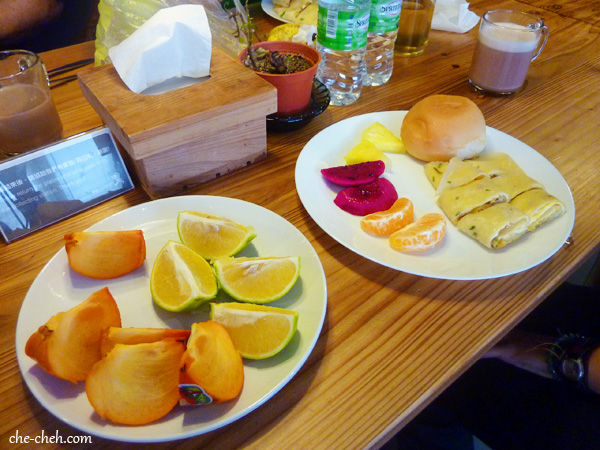 Breakfast & Fruits At Star Cafe @ Star Hostel, Taipei