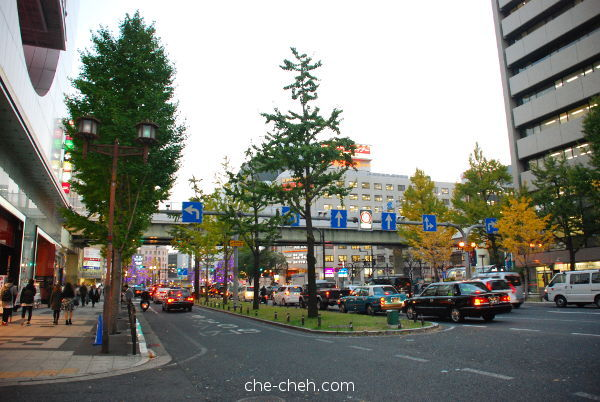 Evening At Midosuji Avenue @ Osaka