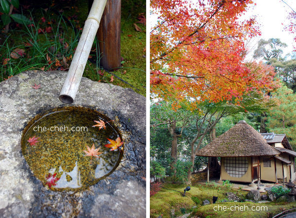 Bamboo Fountain & Iho-an 遺芳庵 (Cottage Of Lingering Fragrance) @ Kodai-ji, Kyoto