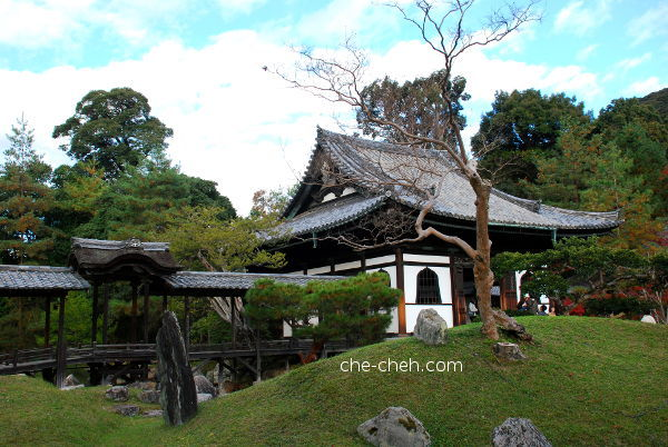Kangetsu-dai 観月台 (Moon Viewing Pavilion) on Engetsuchi (Pond) 偃月池, Kaizan-do 開山堂 (Founder's Hall) & Temple Garden 庭園 @ Kodai-ji, Kyoto