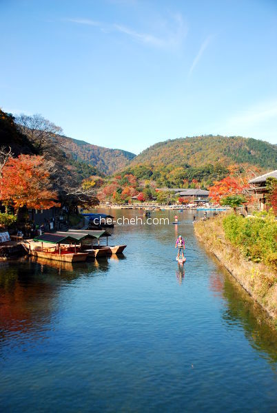 Stand Up Paddle Boarding At Hozu River In Autumn @ Kyoto