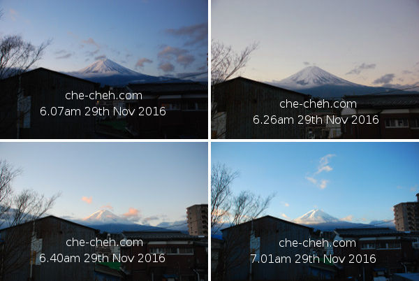 Mount Fuji At Dawn & Sunrise @ Kagelow Mt Fuji Hostel, Fujikawaguchiko